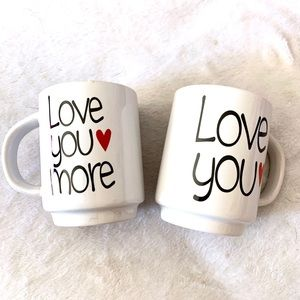 Other - LAST ONE! NEW SET of 2 Coffee Valentine Mugs CUPS